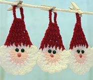 Santa Claus crochet, for Christmas tree decoration royalty free stock images