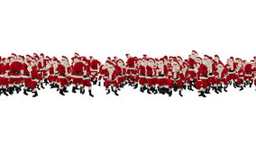 Santa Claus Crowd Dancing, Christmas Party 2013 Shape, against white, stock footage Royalty Free Stock Photography