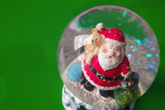 Santa Claus in a crystal water ball Royalty Free Stock Photography