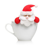 Santa claus in cup isolated Royalty Free Stock Photography