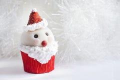 Santa Claus cupcake Royalty-vrije Stock Afbeeldingen