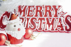 Santa Claus cupcake Stock Foto