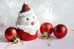 Santa Claus cupcake Royalty-vrije Stock Afbeelding