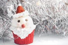 Santa Claus cupcake Stock Foto's