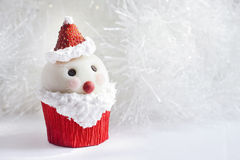 Santa Claus cupcake Royalty Free Stock Images
