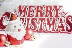 Santa Claus cupcake Stock Photo
