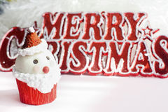 Santa Claus cupcake Royalty Free Stock Photos