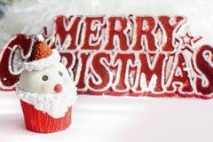 Santa Claus cupcake Royalty Free Stock Photos