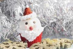 Santa Claus cupcake Stock Image