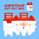 Santa claus cut out box Stock Photography
