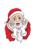 Santa claus with cute pose. Santa claus excited to celebrate Christmas and show a cute face Royalty Free Stock Photo