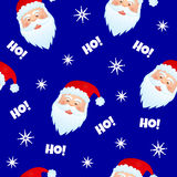 Santa claus3. Cute seamless vector pattern with image of santa claus Stock Photography