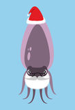 Santa Claus Cuttlefish. Octopus with beard and mustache. Marine Stock Photos