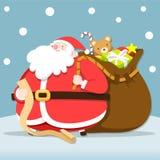 Santa Claus czeka lista ilustracja wektor