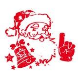 Santa Claus czerwieni znaczek ilustracja wektor