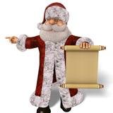 Santa Claus 3D Illustration in Cartoon Stule Isolated On White Stock Photography