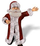 Santa Claus 3D Illustration in Cartoon Stule Isolated On White Stock Images