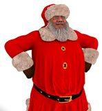 Santa Claus 3D Illustration Isolated On White. 3D Illustration Santa Claus isolated on white background Stock Images