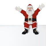 Santa Claus 3d sammanträde Arkivfoton