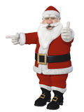 Santa Claus 3d sitting Stock Images