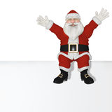 Santa Claus 3d sitting Stock Photos