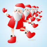Santa Claus dances New Year's fun. Royalty Free Stock Photography