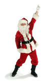 Santa claus dancing. Portrait of a Santa claus dancing on a white background Royalty Free Stock Photo