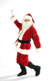 Santa claus dancing Stock Photography