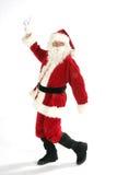 Santa claus dancing Stock Photography