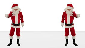 Santa Claus Dancing against White, Dance 7, stock footage Stock Image