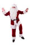 Santa Claus dancing Stock Images