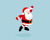 Santa Claus dancing and jumping Royalty Free Stock Image