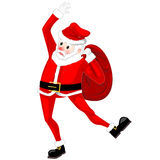 Santa Claus dancing vector Stock Photography