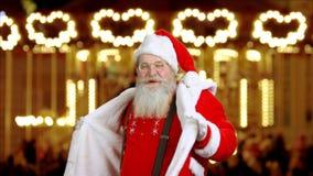 Santa Claus dans lager videofilmer