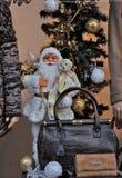 Santa Claus dans la fenêtre de magasin Photo libre de droits