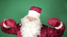 Santa Claus danst stock videobeelden