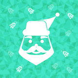 Santa claus on dazzled triangle background Royalty Free Stock Images