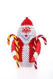 Santa Claus de la papiroflexia modular Imagenes de archivo