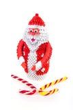 Santa Claus de la papiroflexia modular Foto de archivo libre de regalías
