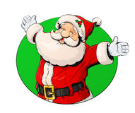 Santa Claus de sorriso ilustração royalty free