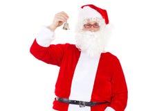 Santa Claus de sourire avec la cloche Images libres de droits