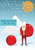 Santa Claus in de stijl van hipster Stock Fotografie