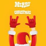 Santa Claus-de vector van het het gebaarpictogram van het rotsn broodje Royalty-vrije Stock Afbeelding