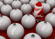 Santa Claus in Decorations. Small 3d Santa Claus figure Stock Photography