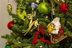 Santa Claus decorations Royalty Free Stock Photo