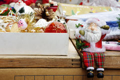 Santa Claus Decorations Christmas Flea Market Royalty Free Stock Photography