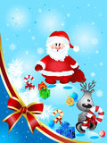 Santa Claus with deer Stock Images