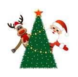 Santa claus and deer Royalty Free Stock Photo