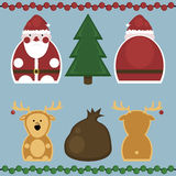 Santa Claus and Deer. Set Stock Images