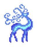 Santa Claus Deer Tissu tricoté par imitation An neuf, Noël, vacances d'hiver illustration libre de droits